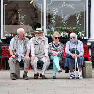 people on a bench